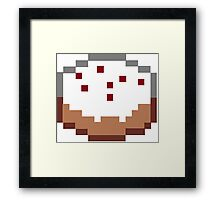 Minecraft Cake Framed Print