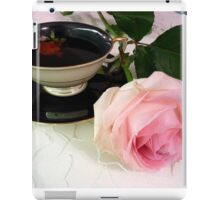 Beauty in Pink - Rose and tea cup iPad Case/Skin