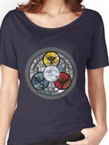 (The legendary Birds) Pokemon Parody Design Women's Relaxed Fit T-Shirt