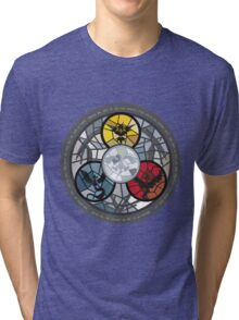 (The legendary Birds) Pokemon Parody Design Tri-blend T-Shirt