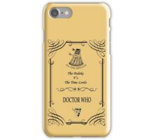 Dr Who: The Daleks V's The Time Lords iPhone Case/Skin