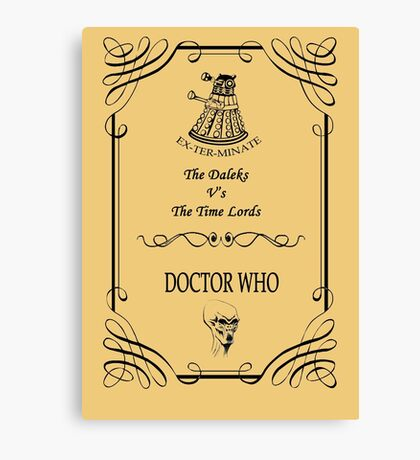 Dr Who: The Daleks V's The Time Lords Canvas Print