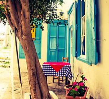 Picturesque Greek Island cafe by visualimagery