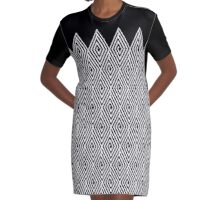 Zigzag Tribal pattern  Graphic T-Shirt Dress