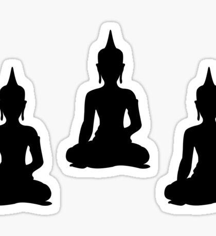 Simple Black & White Buddhas Sticker