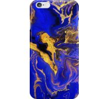 Golden and blue #1 iPhone Case/Skin