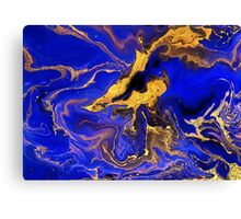 Golden and blue #1 Canvas Print