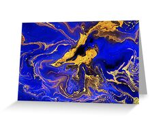 Golden and blue #1 Greeting Card
