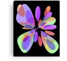 Colorful abstract flower Canvas Print
