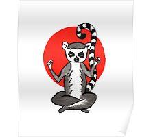 Lemur Loves Meditation Poster