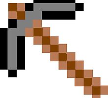 Minecraft Stone Pickaxe by callmeJkay