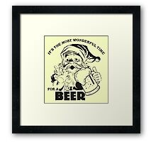 The Most Wonderful Time for a Beer Framed Print