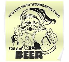 The Most Wonderful Time for a Beer Poster