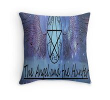 The Angel and the Hunter Throw Pillow
