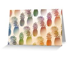 Pineapple Abstract Greeting Card