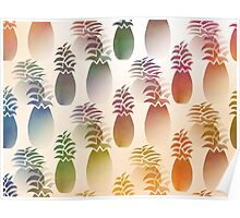 Pineapple Abstract Poster