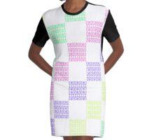Anna Geometric Pattern Graphic T-Shirt Dress