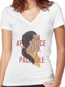 Marcurio is most certainly a pack mule Women's Fitted V-Neck T-Shirt
