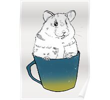 Cute Hamster sitting in mug Poster