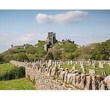 Corfe Castle , Dorset, UK Photographic Print