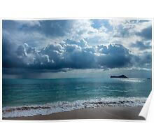 Rain Clouds at Waimanalo Poster