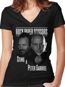 sting and peter gabriel style 2016 Women's Fitted V-Neck T-Shirt