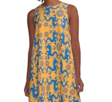 CHINESE DRAGONS-3 A-Line Dress