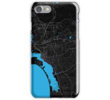 San Diego Dark Magenta Map iPhone Case/Skin