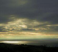 Sunset on Lake Michigan by Atheum