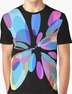 Colorful abstract flower Graphic T-Shirt
