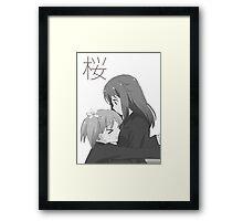Haruka and Yuu Sakura Trick  Framed Print