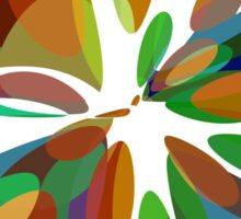 Colorful abstract flower Sticker