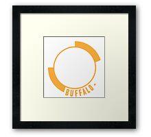 Diceros - Buffalo Metal - Unisex T-Shirt Framed Print