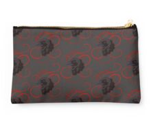 Black Raven with Red Ribbon Custom Design Studio Pouch