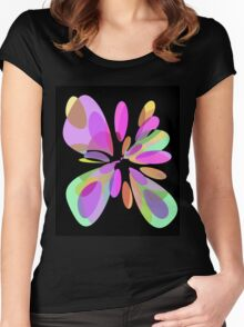 Colorful abstract flower Women's Fitted Scoop T-Shirt