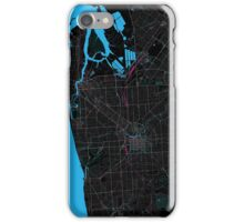 Adelaide Dark Magenta Map iPhone Case/Skin