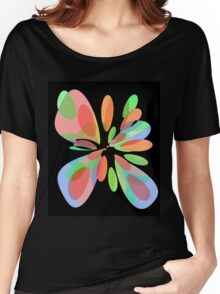 Colorful abstract flower Women's Relaxed Fit T-Shirt