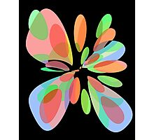 Colorful abstract flower Photographic Print