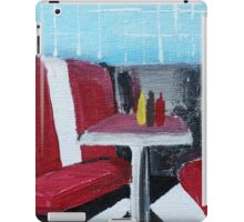 American Diner Art Red White Blue Kitchen Decor Contemporary Acrylic Painting iPad Case/Skin