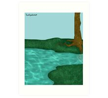 Simplistic Scenery Art Print