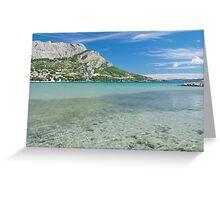 Omis Sea Bay, Croatia Greeting Card