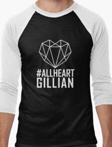 #AllHeartGillian - Wire on Black  Men's Baseball ¾ T-Shirt