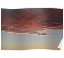 Magical Clouds at Sunset Poster