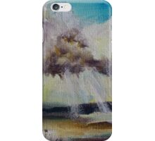Beach Sun Clouds Contemporary Acrylic Painting iPhone Case/Skin