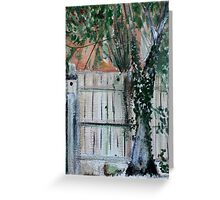 Cherry Tree And Ivy Plein Air Contemporary Acrylic Painting Greeting Card
