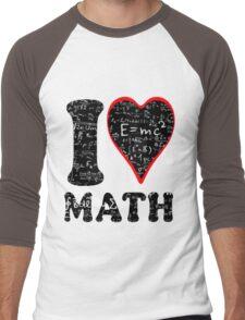 I love math Men's Baseball ¾ T-Shirt