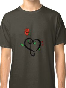Music Heart rose Classic T-Shirt