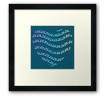 Colorful Rainbow Love Typography  Framed Print