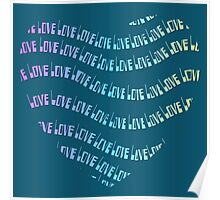 Colorful Rainbow Love Typography  Poster
