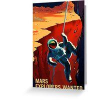 Explorers Wanted - NASA Recruitment Poster Greeting Card